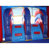 Image of Red n Blue 2 Lane Commercial Combo Bounce House with pool