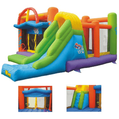 Commercial Bounce House - KidWise Double Shot Commercial Inflatable Bounce House - The Bounce House Store