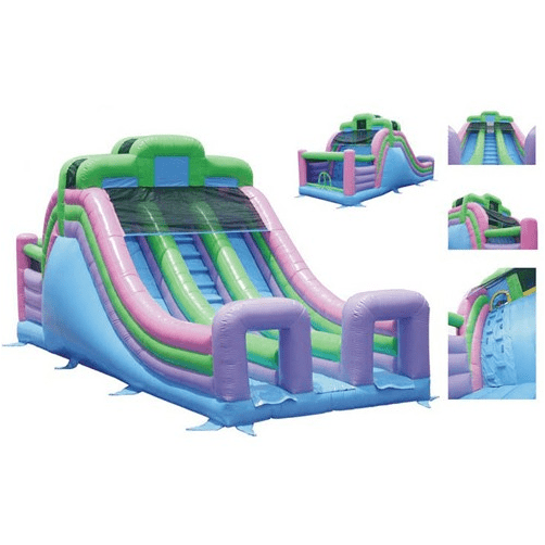 Commercial Bounce House - KidWise Commercial Grade 33' Double Lane Inflatable Slide - The Bounce House Store