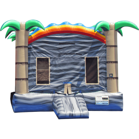 Commercial Bounce House - Tropical Boulder Spring Jumper - The Bounce House Store