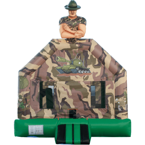 Commercial Bounce House - Sergeant Camo Jumper - The Bounce House Store