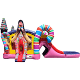Commercial Bounce House - Sugar Shack Dual Lane Non Slip Combo - The Bounce House Store