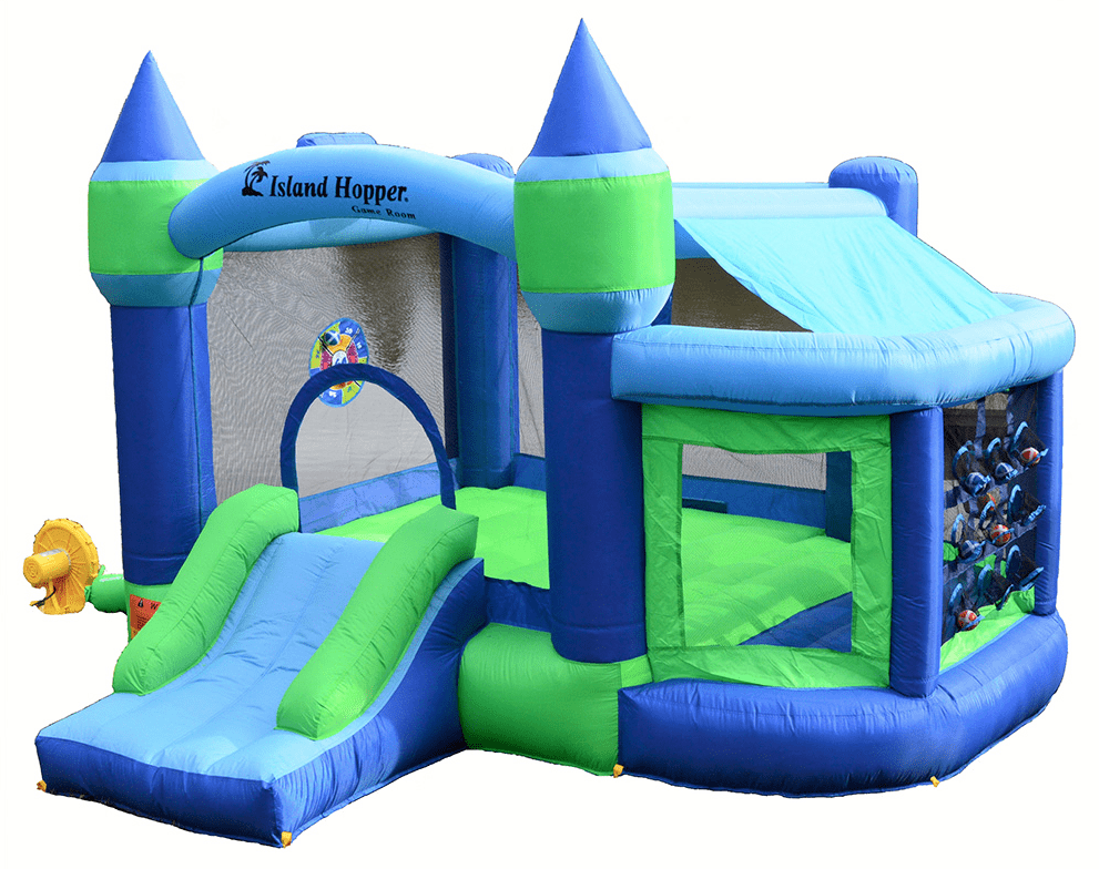 Residential Bounce House - Island Hopper Shady Play Game Room Bounce House - The Bounce House Store