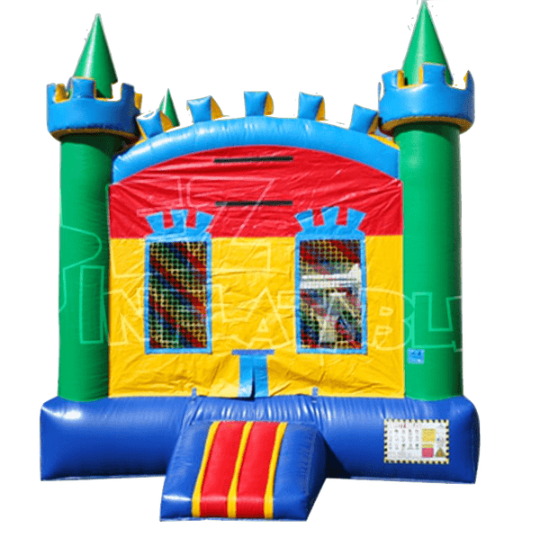 Commercial Bounce House - Colorful Castle Jumper - The Bounce House Store