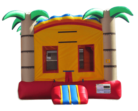 Commercial Bounce House - Tropical Rainbow Commercial Jumper - The Bounce House Store