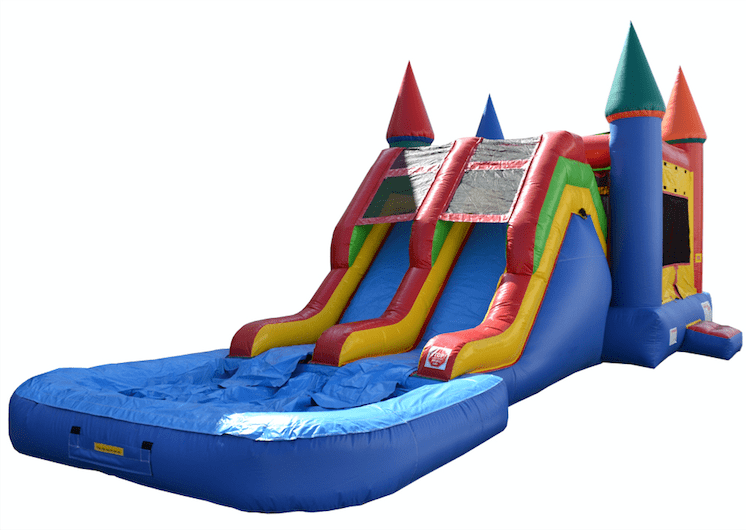 Commercial Bounce House - 5 in 1 Super Combo Double Lane With Pool - The Bounce House Store