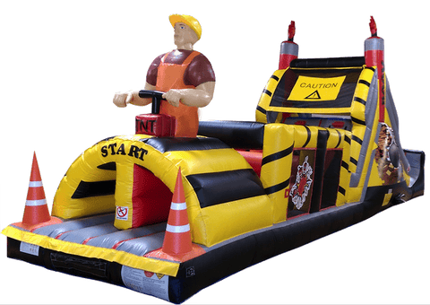Commercial Bounce House - Demolition Zone Inflatable Obstacle Course - The Bounce House Store