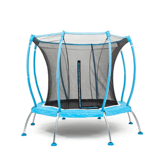 SkyBound Atmos 8FT Octagonal Trampoline with Safety Net - Blue