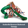 Image of Gorilla Playsets Sun Climber Deluxe Wooden Swing Set with Sunbrella Canopy