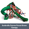 Image of Gorilla Playsets Sun Climber Deluxe Wooden Swing Set with Sunbrella Canvas Forest Green Canopy
