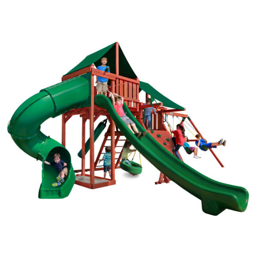 Gorilla Playsets Sun Climber Deluxe Wooden Swing Set