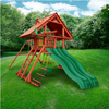 Image of Gorilla Sun Palace Extreme Wooden Swing Set outside