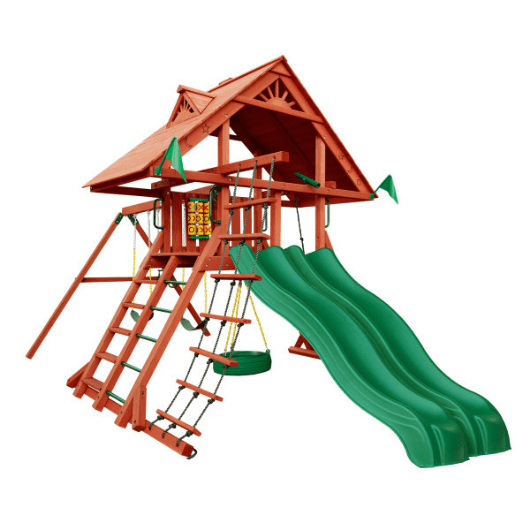 Gorilla Sun Palace Extreme Wooden Swing Set