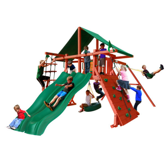 Gorilla Playsets Sun Valley Extreme Wooden Swing Set