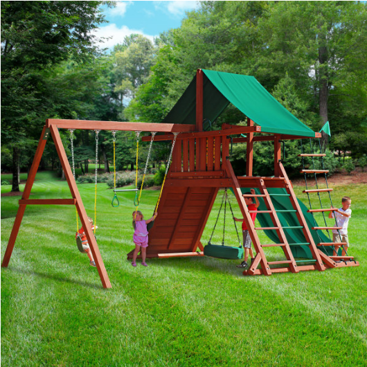 Gorilla Playsets Sun Valley Extreme Swing Set Outside