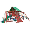 Image of Gorilla Playsets Sun Valley Wooden Swing Set Green Canopy