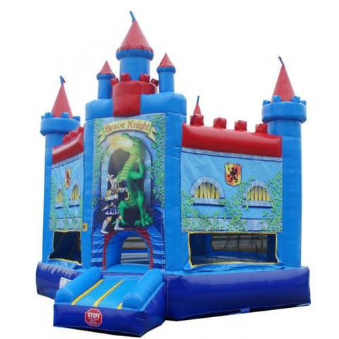 Inflatable Slide - Brave Knight Castle Commercial Bounce House - The Bounce House Store
