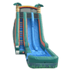 Image of Inflatable Slide - 22'H Dual Lane Inflatable Palm Tree Slide With Pool - The Bounce House Store