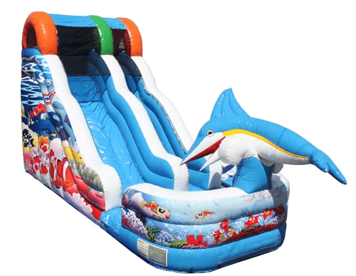 Sea Life Inflatable Slide Wet/Dry