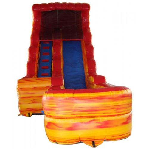 Inflatable Slide - 17'H Volcano Inflatable Slide Wet/Dry - The Bounce House Store