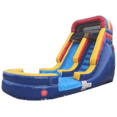 Inflatable Slide - 14'H Rainbow Inflatable Slide Wet/Dry - The Outdoor Play Store