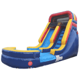 Inflatable Slide - 14'H Rainbow Inflatable Slide Wet/Dry - The Bounce House Store