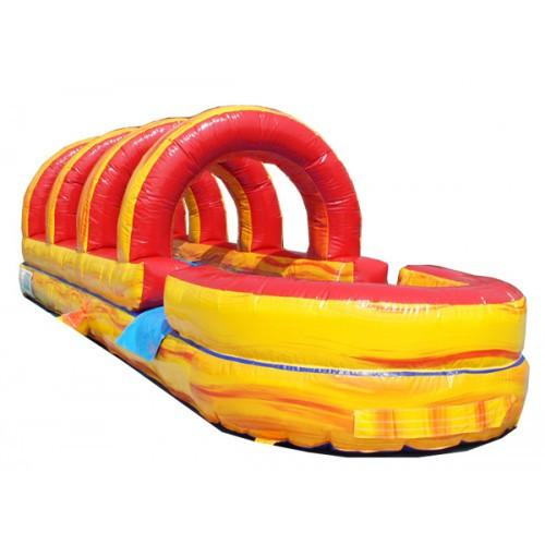 Volcano Inflatable Slip N Slide with Pool
