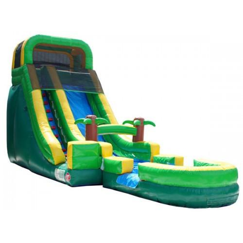 Inflatable Slide - 22'H Palm Tree Screamer Inflatable Slide Wet/Dry - The Bounce House Store
