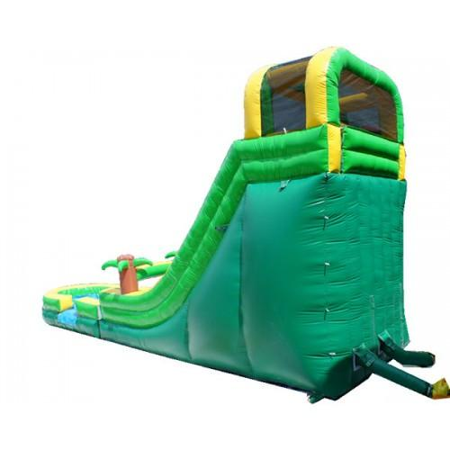 Inflatable Slide - 18'H Palm Tree Screamer Inflatable Slide Wet/Dry - The Bounce House Store