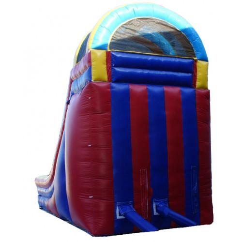 Inflatable Slide - 18'H Rainbow Screamer Inflatable Slide Wet/Dry - The Bounce House Store