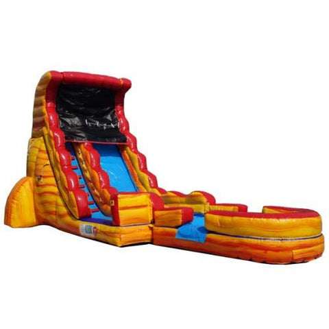 Inflatable Slide - 18'H Volcano Screamer Inflatable Slide Wet/Dry - The Bounce House Store