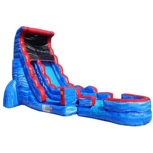 Inflatable Slide - 20'H Tsunami Screamer Inflatable Slide Wet/Dry - The Bounce House Store