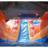 19'H Dual Lane Inflatable Wet/Dry Slide With Pool