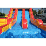 Moonwalk USA Dual Lane Inflatable Wet/Dry Slide With Pool