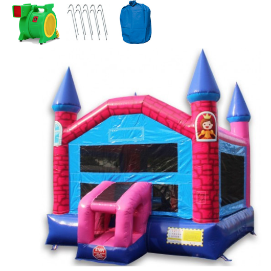 Commercial Bounce House - 14' Pink Princess Commercial Bounce House - The Outdoor Play Store