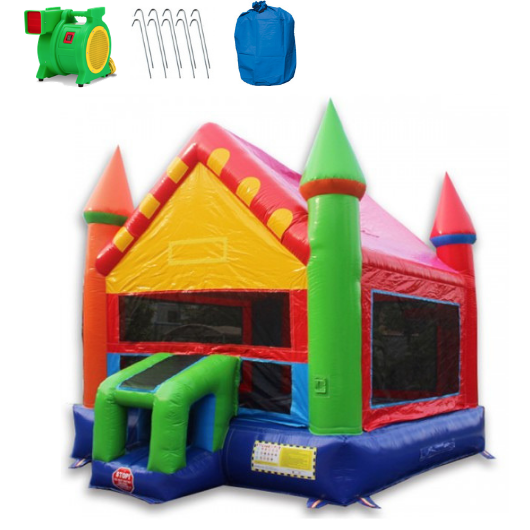 Commercial Bounce House - 14' Castle Commercial Bouncer - The Outdoor Play Store