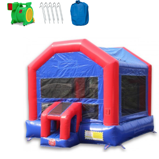 Commercial Bounce House - 14' Fun House Commercial Bounce House - The Outdoor Play Store
