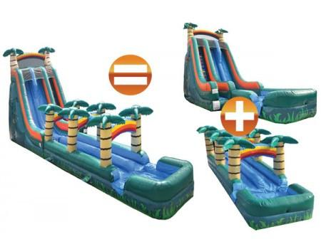 Commercial Bounce House - 22'H Commercial Slide + Slip N Slide Bundle - The Bounce House Store