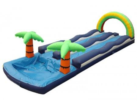 Inflatable Slide - Dual Lane Inflatable Slip N Slide with Pool - The Bounce House Store