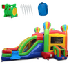 Image of Commercial Bounce House - 2-Lane Balloon Combo Bouncer Wet n Dry - The Bounce House Store