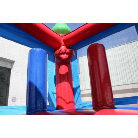 inflatable basketball hoop inside bounce house