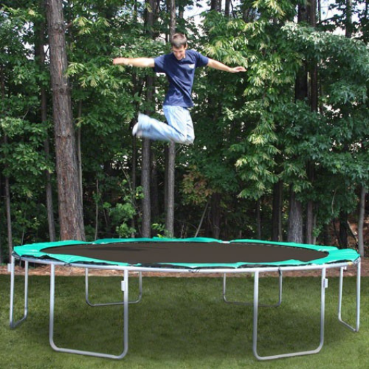 Sports Tramp Extreme 13.5' Round Trampoline with Detachable Enclosure