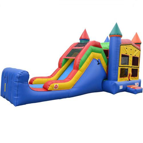 Commercial Bounce House - 5 in 1 Castle Combo Bounce House - The Bounce House Store