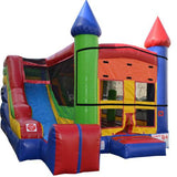 Commercial Bounce House - 5x Jump & Splash Combo Castle Bounce House - The Bounce House Store