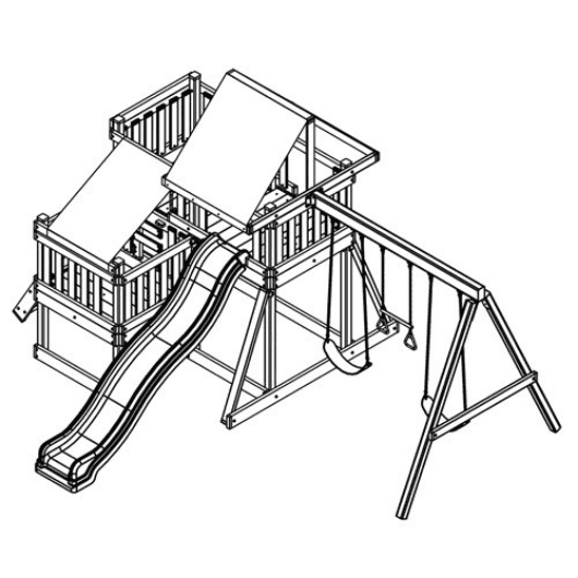 congo monkey swing set #2 drawing
