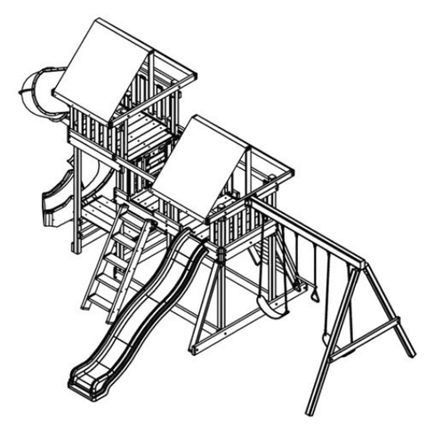 congo monkey swing set #3 drawing