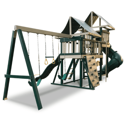 congo monkey swing set package #3 green and sand