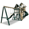 Image of congo monkey swing set package #3 green and sand