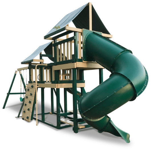 congo monkey swing set package #3 with turbo slide