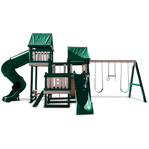 congo monkey swing set #4 in sand and green color